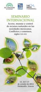Seminario internacional sobre Aguas y Recursos naturales, Ciesas, Colegio de Sonora, Lmi Meso