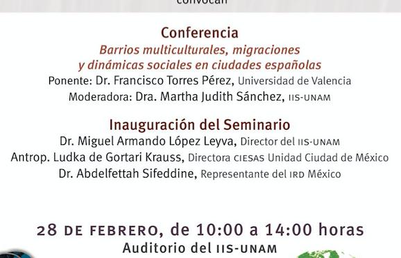 Seminario permanente «Inserción en un mundo de movilidades: nuevos retos analíticos en contextos cambiantes»